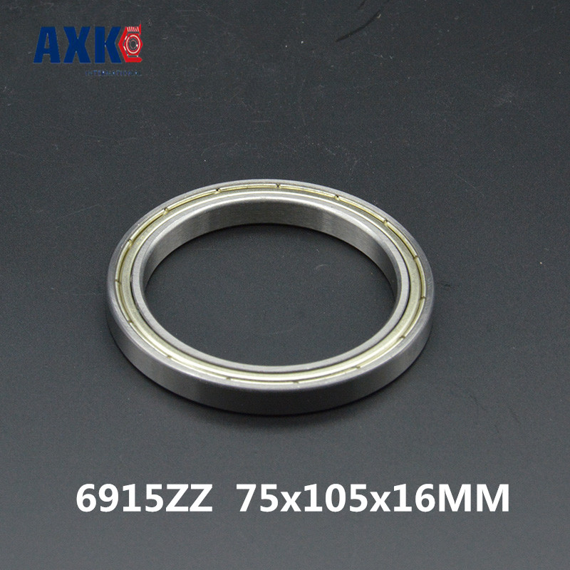 2018 Time-limited Direct Selling Steel 6915zz Abec-1 (2pcs) 75x105x16mm Metric Thin Section Bearings 61915zz 6915z 2018 hot sale time limited steel rolamentos 6821 2rs abec 1 105x130x13mm metric thin section bearings 61821 rs 6821rs