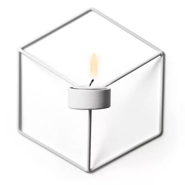 Горячие визуальный touch Nordic Стиль 3D геометрический Подсвечник металл настенный подс ...