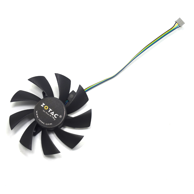 NEW 85mm T129215SU T129215SH 4Pin GTX1060 6Gb Cooler Fan DIY Replace For Zotac GTX1060 6Gb Mini GTX1060 3GB Mini Graphic Cards image