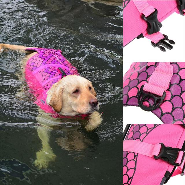 Dog's Shark / Mermaid Swimming Safety Vest 3