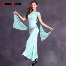 2017 Costume For Belly Dance Gypsy Clothing Women 2Pcs(Dress+Free Leggings) Bollywood Dress Abanicos Belly Dance Suit