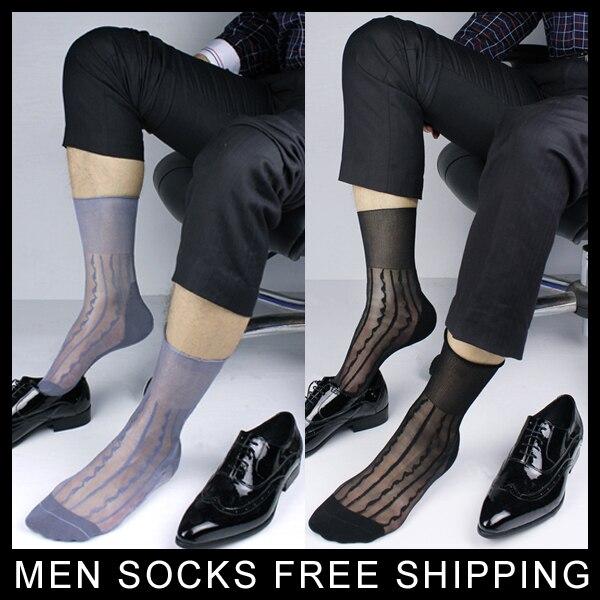 men stockings nylon silk transparent sock ultra thin super sexy Twill style men 39 s nylon socks free shipping in Men 39 s Socks from Underwear amp Sleepwears