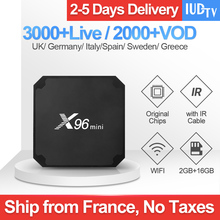 купить X96 MINI IPTV Spain Android 7.1 Smart TV Box 2GB 16GB Sweden Italy UK Spain Greek Netherlands IUDTV Code Subscription IPTV Box по цене 3866.71 рублей