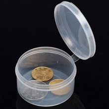 Mini Portable Transparent Jewelry Storage Box Case Home Storage Tool Can Be Coin Pill Plastic Storage Box Case Organizer MS516