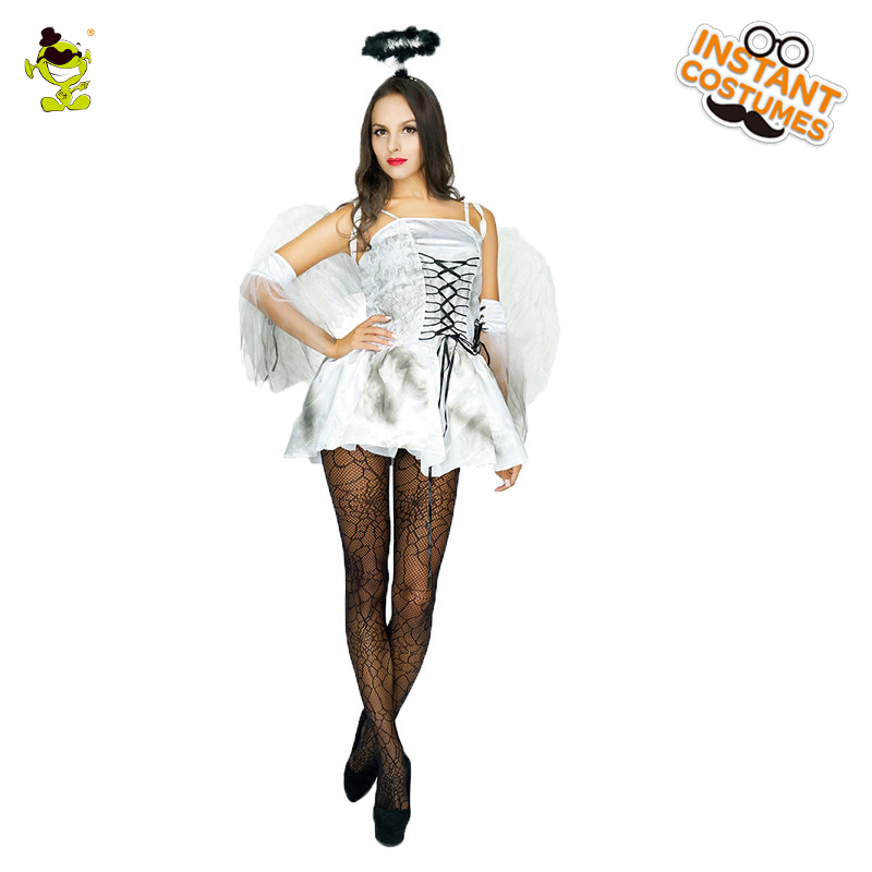 Women's Guardian Angel Costume Heaven Sent Halloween Fancy Dress