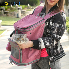 New Arrival Cat Breathable Carrier Backpack Mesh Zipper Design Dog Pet Outdoor High Quality Small Handbag