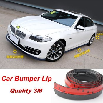 Auto Car Front Lip Side Skirt Body Kit Trim Front Bumper Lip For BMW X1 X3 X5 M3 E30 E36 E39 E46 E87 E90 E91 E92 E93 Car-Styling image