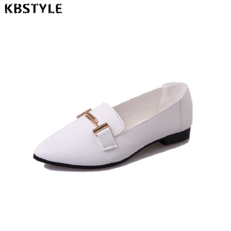 KBstyle 2017 New Spring Shoes For Women Brand Pointed Toe Womens Flats Fashion Young Ladies Casual Shoes Hot Sale Wholesale 2017 new fashion spring ladies pointed toe shoes woman flats crystal diamond silver wedding shoes for bridal plus size hot sale