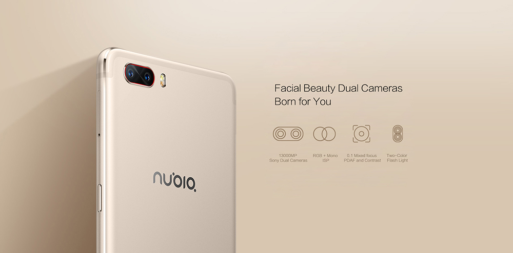 Nubia M2 5.5inch Mobile Phone Snapdragon 625 Octa Core 4GB RAM 64GB128GB 16.0MP Dual Rear 4G LTE Fingerprint 19201080Pixel 3