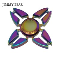 JIMMY BEAR 1 Pcs EDC Toys Triangular Hand Spinner Metal Professional Fidget Spinner Autism And ADHD