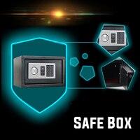 Solid Steel Electronic Safe Box Secret Box Digital Keypad Lock Mini Lockable Money Cash Storage Box Jewelry Storage Case Safe