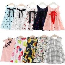 8bff369eaa57 2019 vestidos de verano para niñas vestido de princesa elegante bonito vestido  sin mangas de verano 2 3 4 5 6 7 8 AÑOS NIÑOS rop.