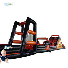 Inflatable Biggors Inflatable Climbing Wall 5 In 1 Inflatable Obstacle Course For Sports Games
