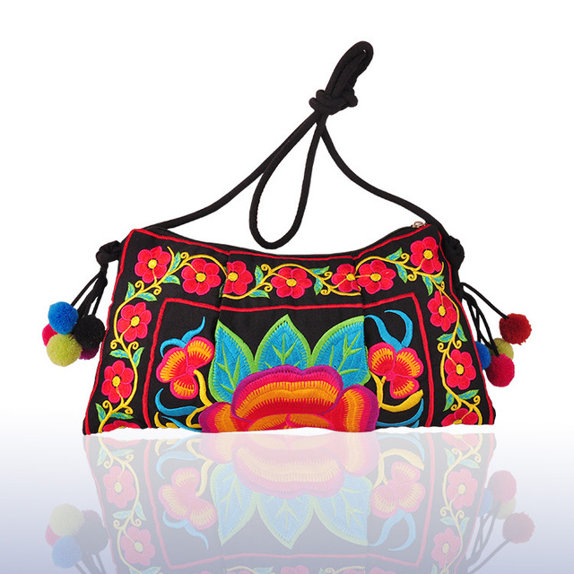 42c9b9b7f4a Fashion National Embroidery Shopping Bags!Hot Bohemian Floral Embroidery  Women Shell Shoulder Crossbody bags Nice Canvas