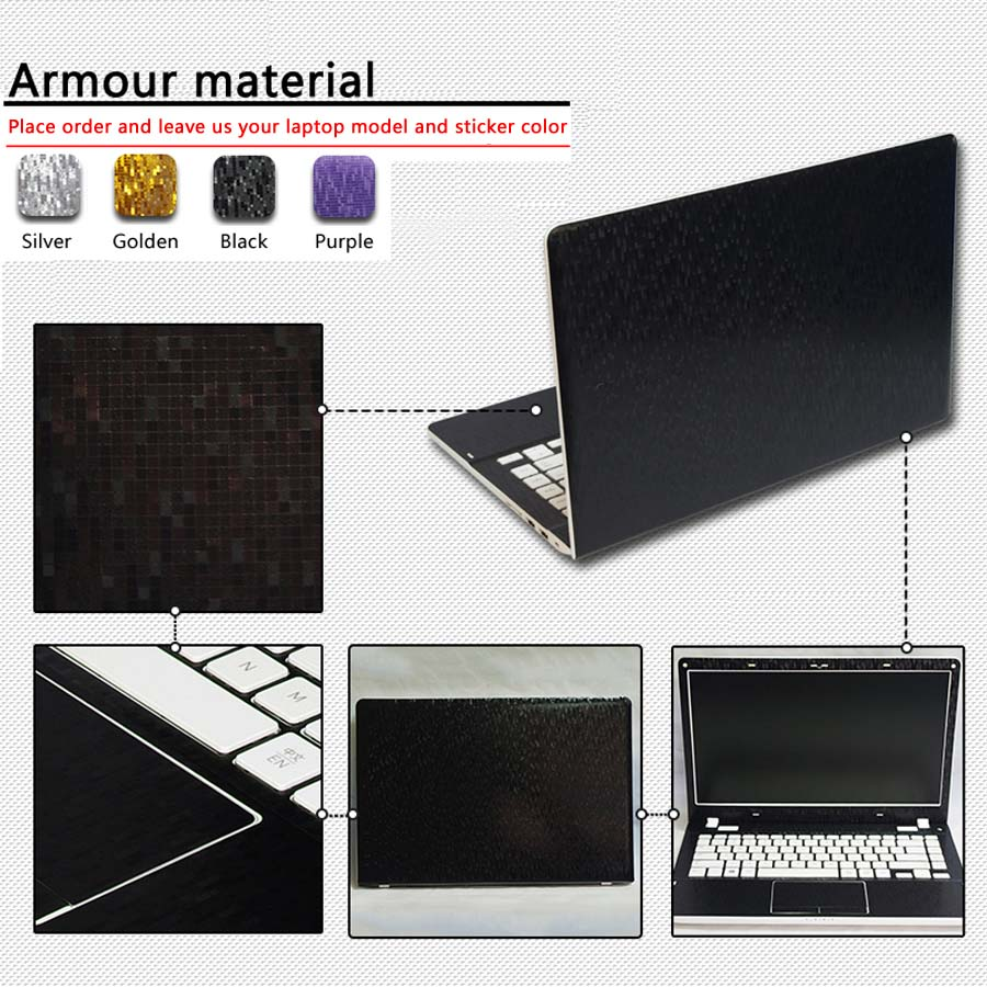 Pure Color ABC Sides Laptop Sticker Dustproof Skins For Lenovo Ideapad 100 14iby Ideapad 100 15iby