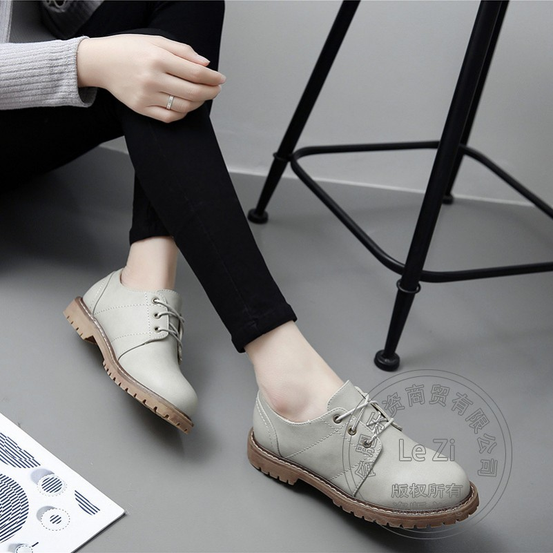 ФОТО Closed Toe Soft Leather Microfiber China Shoes Ladies Shoes Solid New Arrival High Quality Plain Comfortable Joker