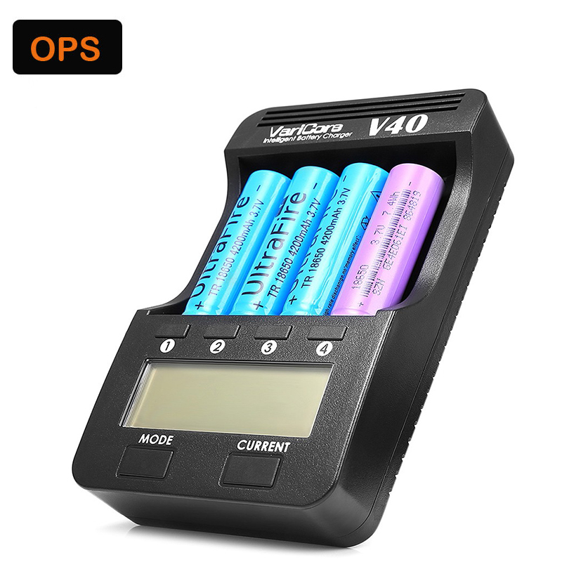 V40 LCD 3.7 V 18650 Chargeur de Batterie pour AA/AAA 26650/18500/16340/14500/18350 Rechargeable Batterie pk Opus BT-C3100