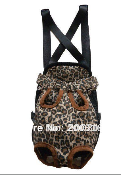 New Leopard Pet Legs Out Front Carrier/Bag  dog carrier Free Shipping