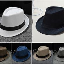 HIRIGIN Hat Panama Straw Fedora Trilby Cap Foldable Travel Brim Wide Mens Ladies