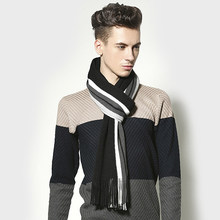9977f56d688c8 Korean Version Explosion Models Hot Tassels Striped Knitted Mixed Colors  Casual Men Scarves
