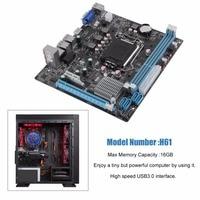 H61 Desktop Computer Mainboard Motherboard 1155 Pin CPU Interface Upgrade USB3 0 DDR3 1600 1333