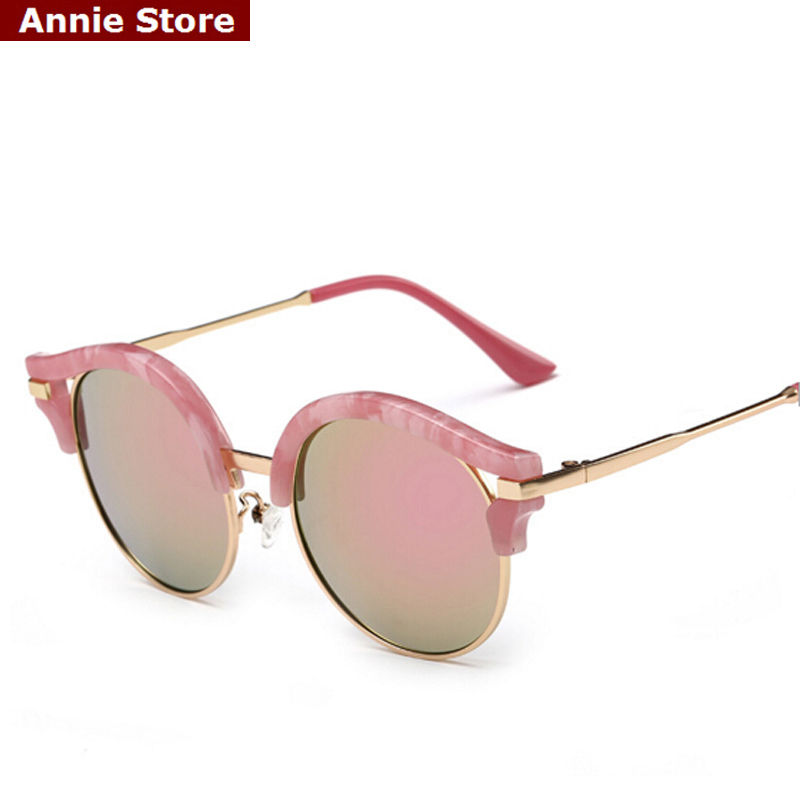 Brand sunglasses polarized for kids 2016 fashion semi-rimless round children sunglasses for girl with uv protection pink blue
