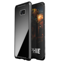 LUPHIE 2in1 Metal Frame 9H Tempered Glass Back Cover For Samsung Galaxy S8 S8 Plus Aluminum