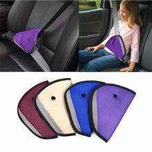 Kids Baby Children Seat Safety Belts Anti le neck Triangle Durable Colorful Fixer Adjuster Clip Booster Strap Harness In Car(China)