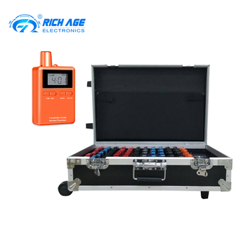 RichiTek Wireless Tour Guide System Potable 2 Transmitters+58 Receivers For Tour Guide With Headset Microphone