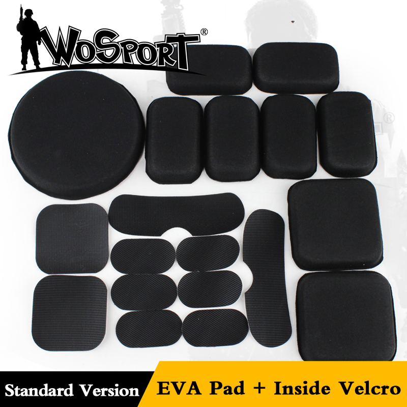 19pcs Standard Helmet Pads Eva Non-toxic Quick Dry Protective Cushion Replacement For Fast Helmets With Hook And Loop Fastener Pottery & Glass