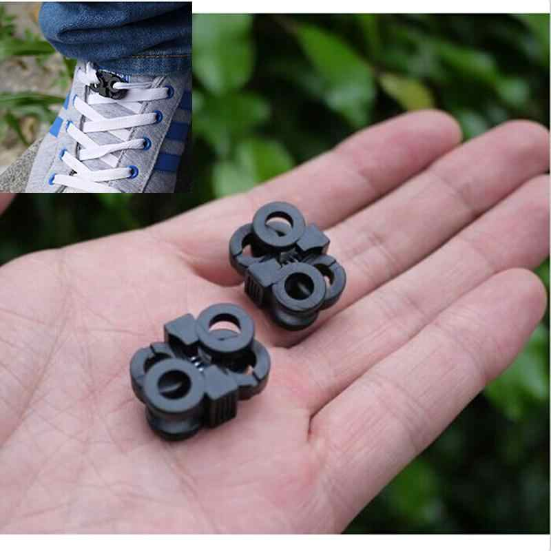 10Pcs Black Adjustment POM Shoelace Buckle Rope Clamp Cord Locks Stopper Shoes Decorations Cross Umbrella Rope