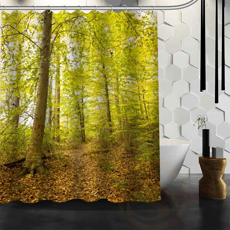 Best Nice Custom Forests Autumn Shower Curtain Bath Curtain Waterproof  Fabric For Bathroom MORE SIZE WJYu0026112 In Shower Curtains From Home U0026 Garden  On ...