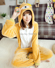 Kigurumi Anime Unisex Adult Rilakkuma Bear Onesies Children Pajamas Cosplay Costume For Halloween Carnival Masquerade Party