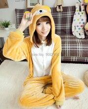 Kigurumi Anime Unisex Adult Rilakkuma Bear Onesies Kinderen Pyjama Cosplay Kostuum Voor Halloween Carnaval Maskerade Partij