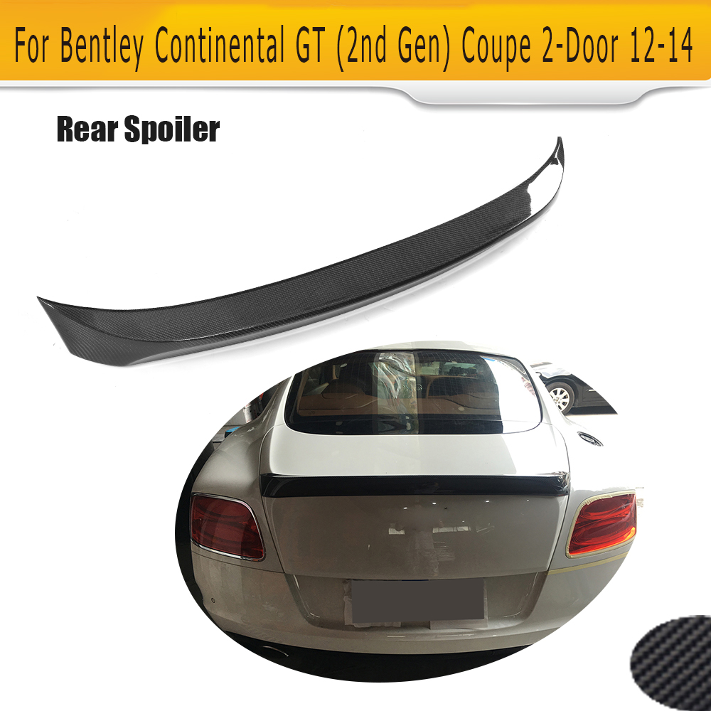 Carbon Fiber Rear Trunk Spoiler Case For Bentley