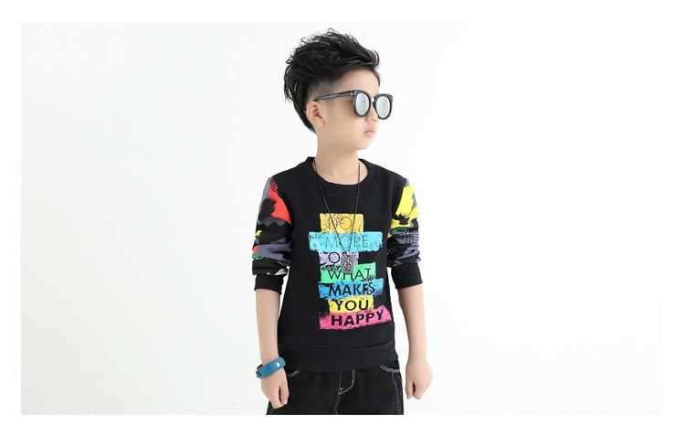 fashion casual new arrival 2017 camouflage patchwork children tops tees boys long sleeve t shirts kids clothes new 2017 spring autumn teenager boys kid t shirt clothes  (7)
