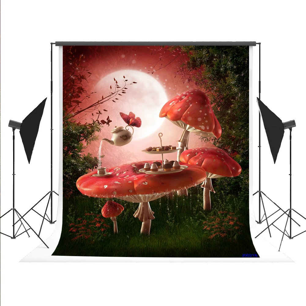 Kate Magic Mushroom Backdrop Fairy Tale Photography Background Cartoon Forest Fundo for Fond Studio Children Photos 5X7ft 300cm 200cm about 10ft 6 5ft fundo butterflies fluttering woods3d baby photography backdrop background lk 2024