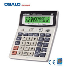 OS-2000 12 Digits Office Supplies Electronic Calculator with Green Light Display