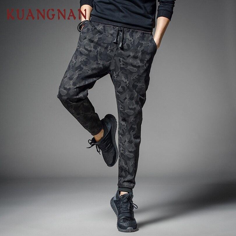 KUANGNAN Pants Camouflage Japanese Streetwear Trousers Men Men Jogger Black Hip-Hop 5XL