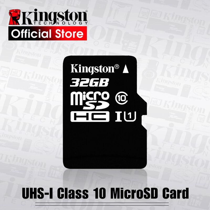 كينغستون الدرجة 10 مايكرو SD بطاقة 32GB 16GB 64GB 128GB 8GB الذاكرة بطاقة C10 البسيطة SD بطاقة SDHC SDXC TF بطاقة للهواتف الذكية