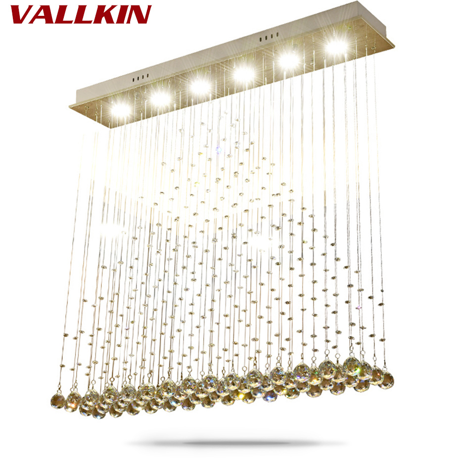 Modern LED Ceiling Chandeliers Luxury Indoor Chandelier Crystal Lamps Rectangle Dining Room Restaurant Hanging Lamp Fixtures led crystal restaurant lamp post modern chandelier rectangle creative personality dining room lamp golden light luxury new lamps