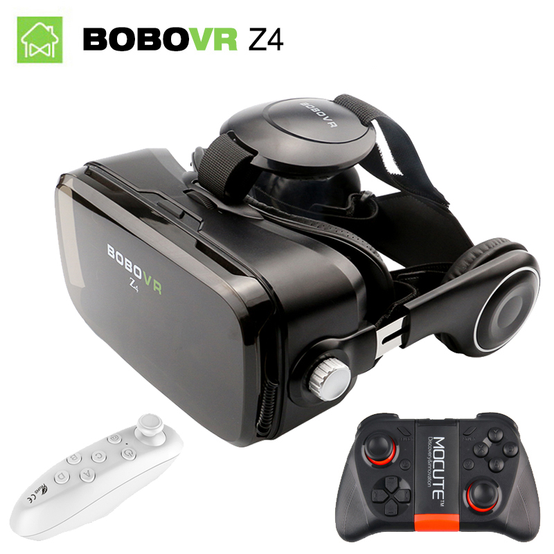BOBOVR Z4 VR Box Virtual Reality Glasses Google Cardboard 3D Smart Glasses With Headset BOBO VR Glasses for 4-6' Mobile Phone vr shinecon google cardboard pro version 3d vr virtual reality 3d glasses smart vr headset