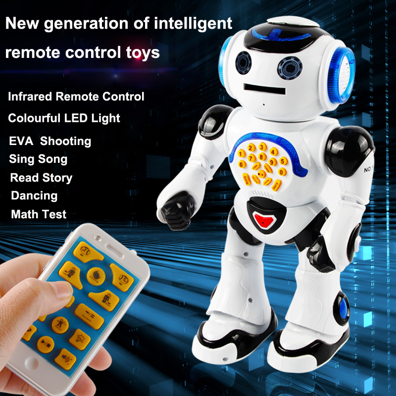 Multi-function remote control intelligent robot voice in English to sing and dance storytelling paternity toys intelligent tuning and adaptive control