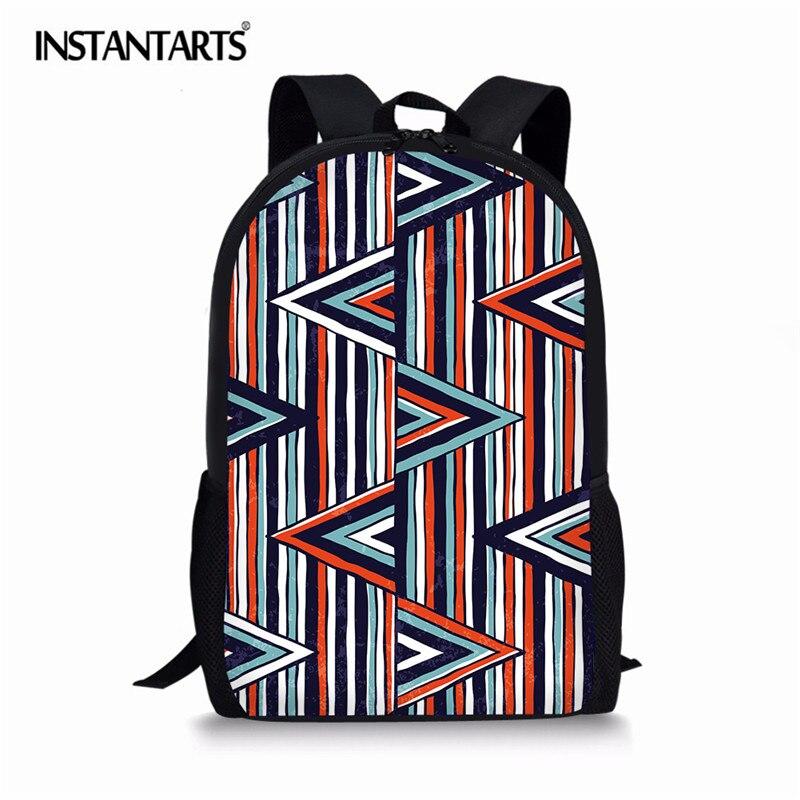 INSTANTARTS Богемия Стиль геометрическим принтом Для женщин путешествия ноутбук рюкзак Повседневное ежедневно студент школьные сумки для девоч...