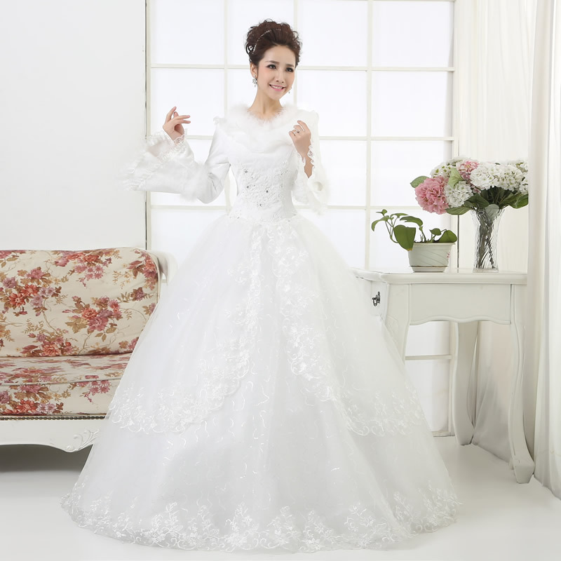 Elegant Simple Long Sleeve Wedding Dresses With Lace 2015: Aliexpress.com : Buy 2015 Hot Sale Long Sleeve Simple