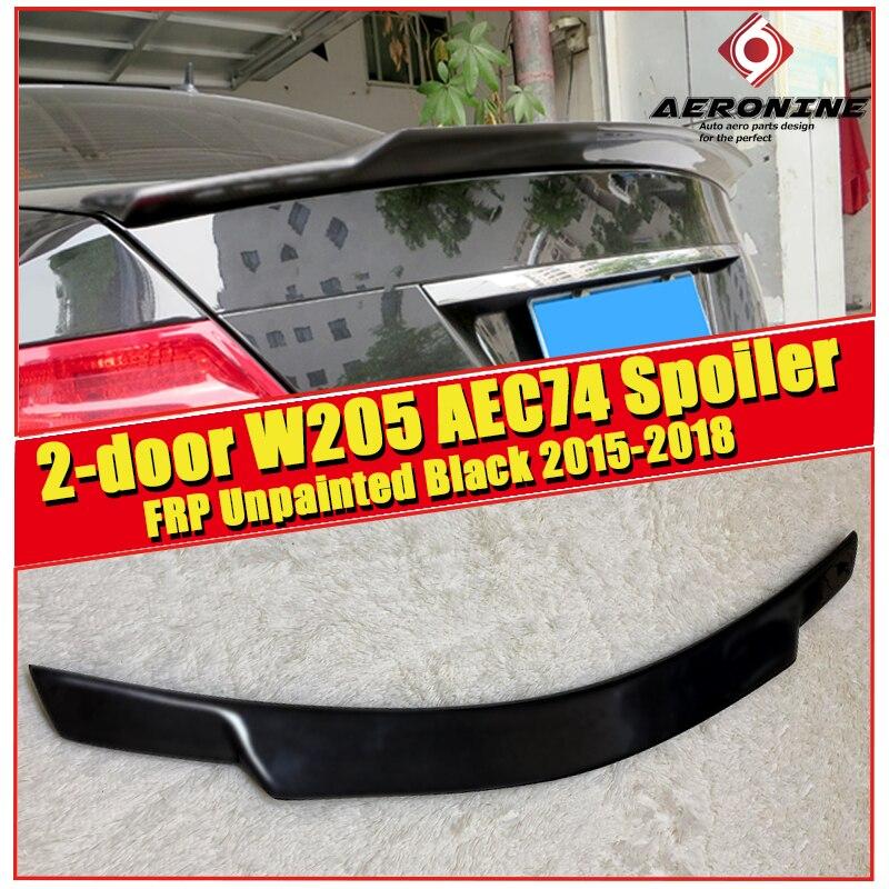 For Mercedes Benz W205 trunk spoiler wing FRP Unpainted C74 Style C class 2 door C63 look C180 C200 C250 wing rear spoiler 15 18 in Spoilers Wings from Automobiles Motorcycles