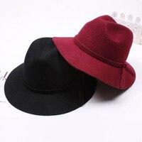 סיטונאי 6 יחידות מגניב נשים חורף צמר הרגיש מגבעות לבד כובע רגיל נשים אביב מגבעות לבד כובע שוליים דיסקט כובעי גבירותיי ליידי סתיו כובעי