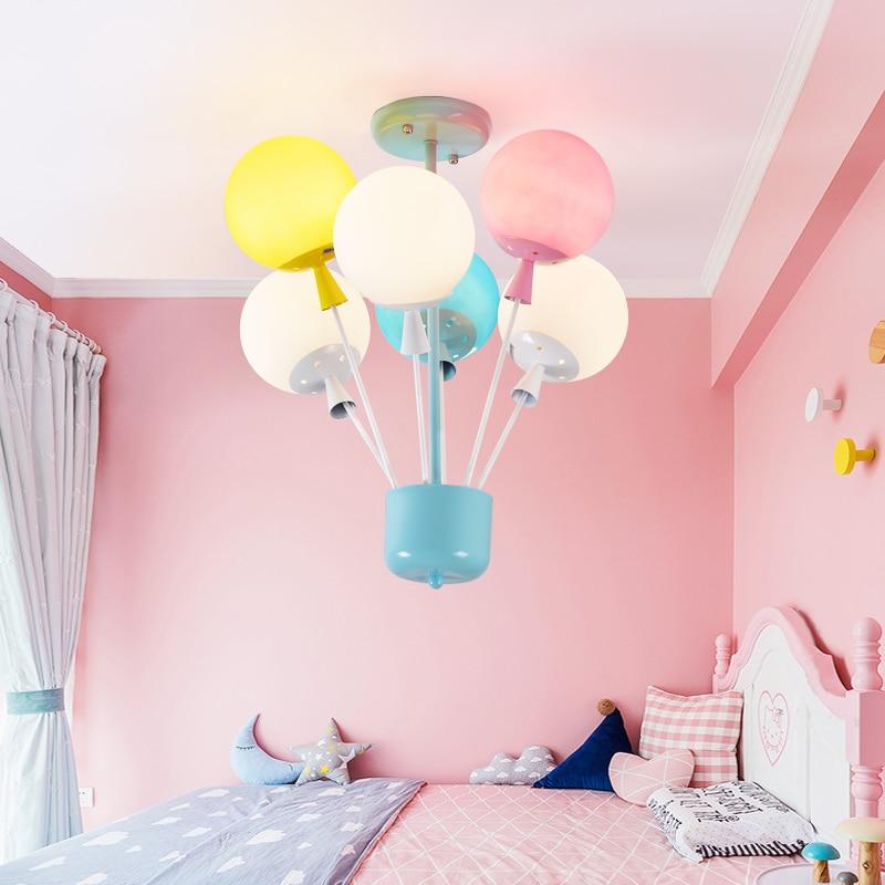 Современный светодио дный светильник столовая спальня шар люстры детская комната мультфильм лампа детский сад детские цветные люстры