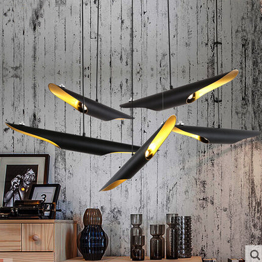 hanging lights for dining room bedroom Delightfull Coltrane cord pendant lamp Postmodern Duplex villa Nordic Bevel