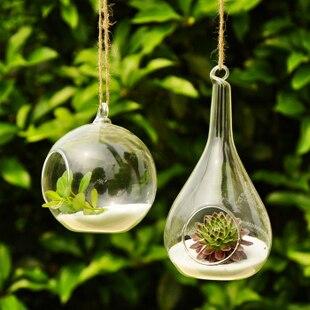 Hanging Vases Home Decor Transparent Glass Vase Modern Fashion Home Decoration Dropping Home Vase Decoration